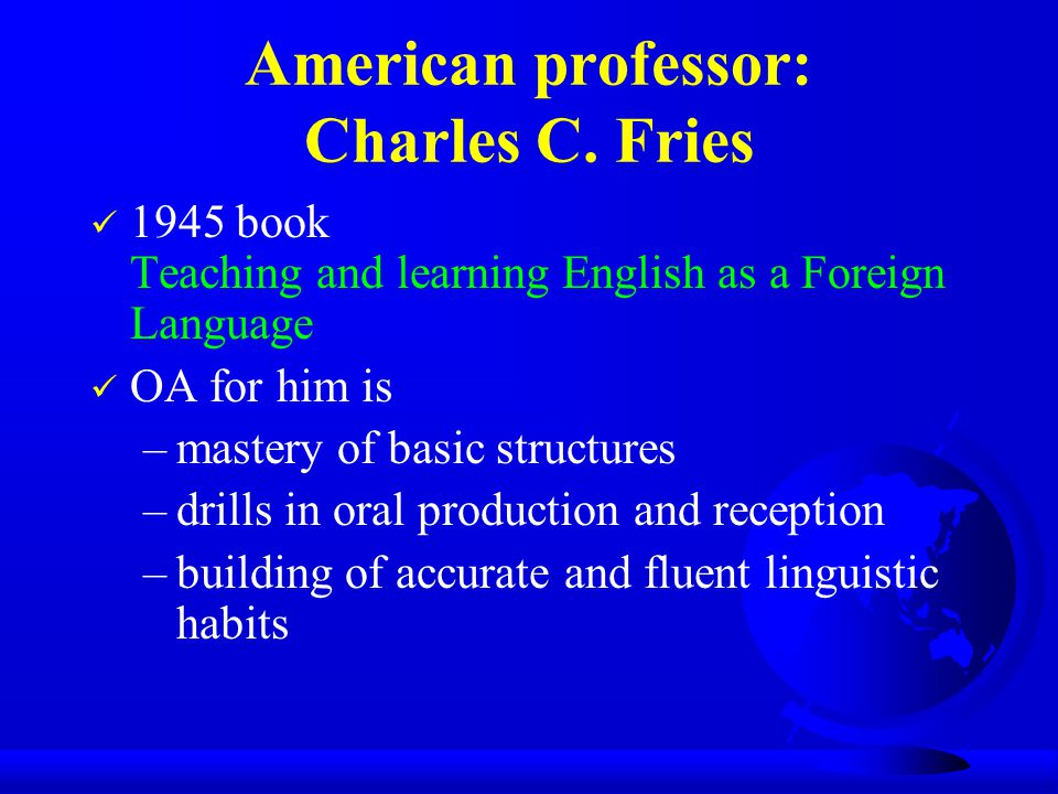 American professor: Charles C.
