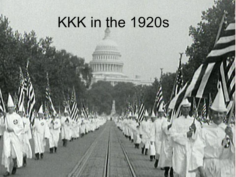 KKK in the 1920s
