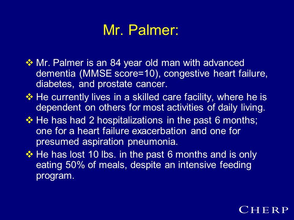 Mr. Palmer:  Mr.