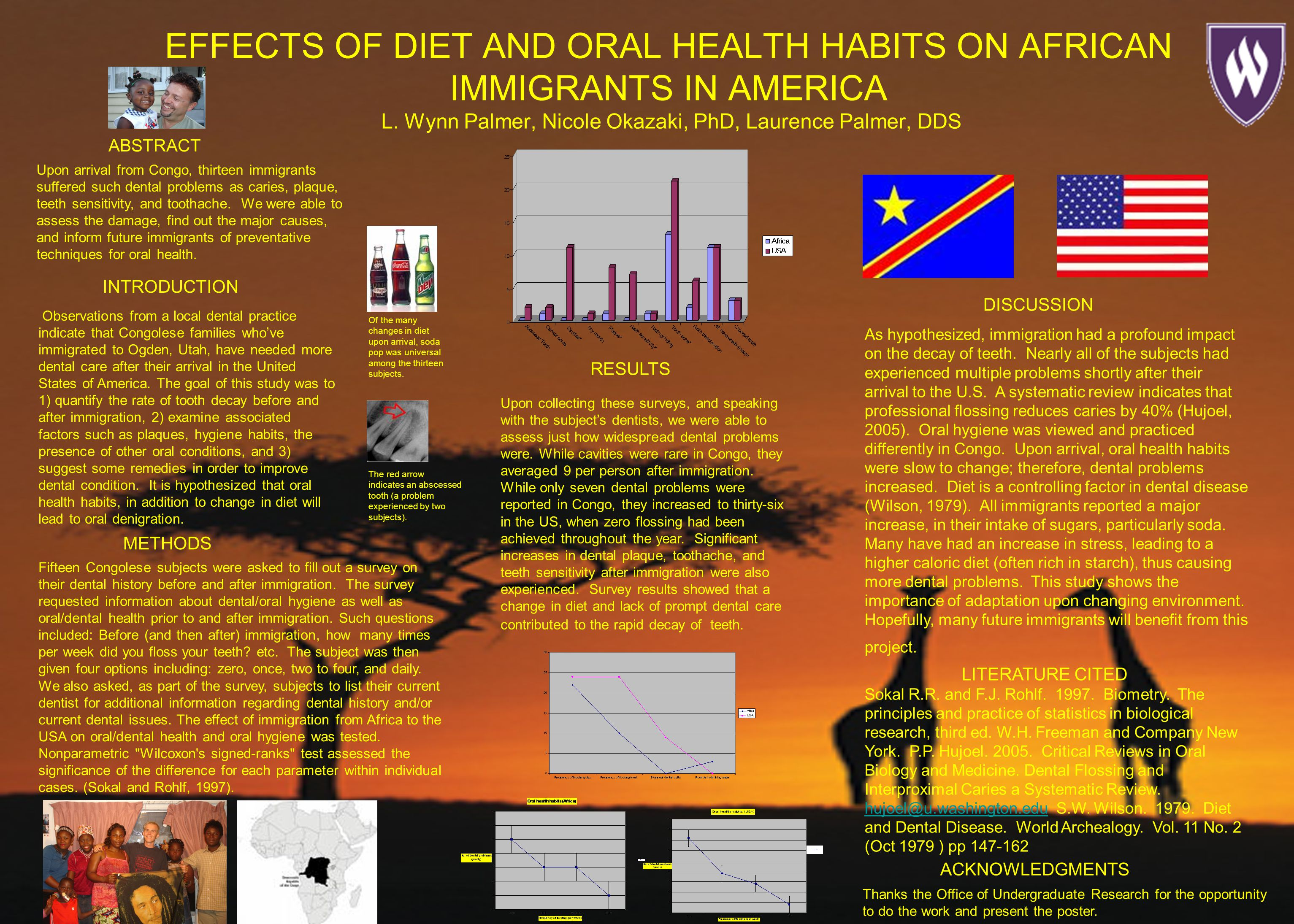 EFFECTS OF DIET AND ORAL HEALTH HABITS ON AFRICAN IMMIGRANTS IN AMERICA L.