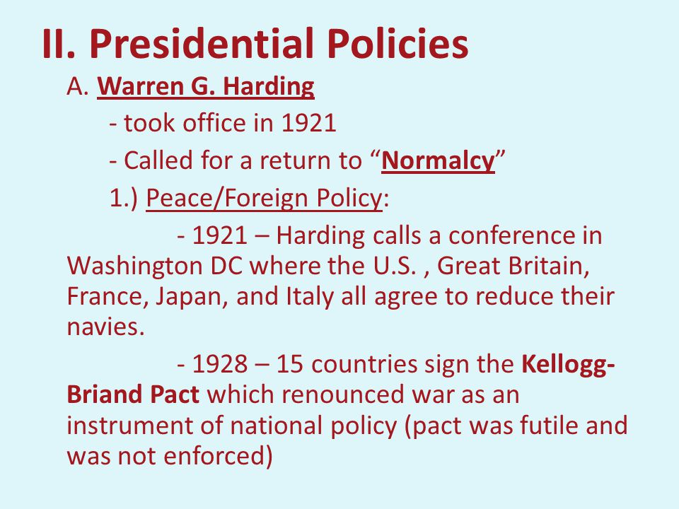 BEFORE HIS NOMINATION, WARREN G. HARDING DECLARED,