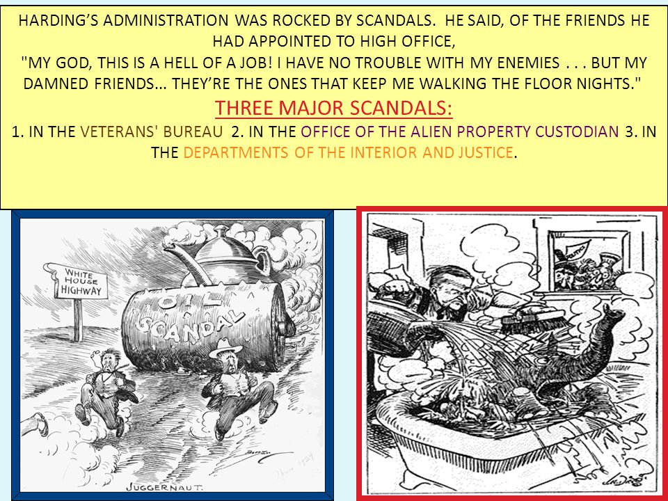 3.) Scandal – cont. - Teapot Dome Scandal - gov.