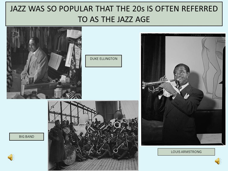 - African Americans and Jazz - Jazz was born in New Orleans in the early 20 th Century - Louis Armstrong – outstanding trumpet player famous for his s