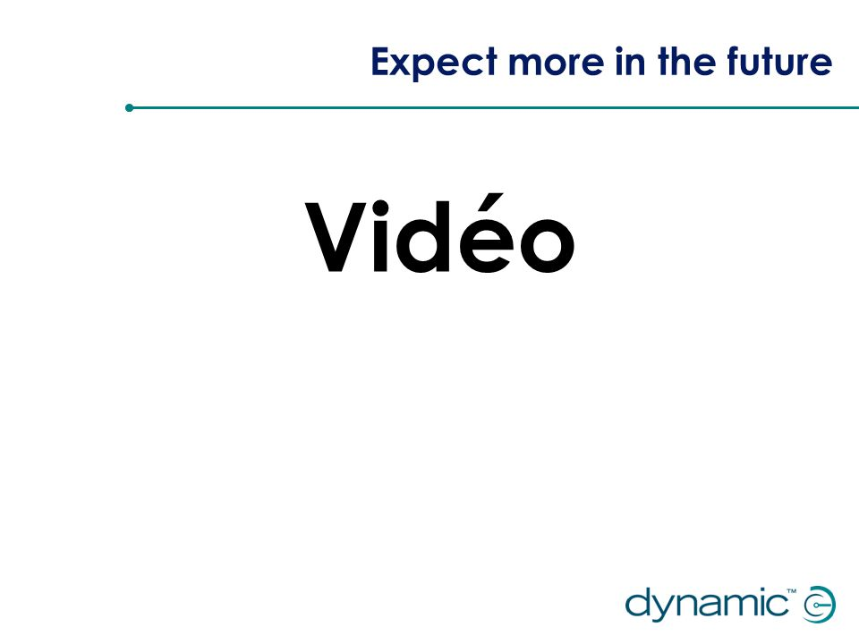 Expect more in the future Vidéo