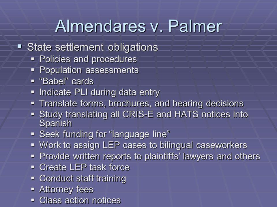 Almendares v.