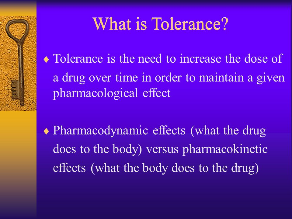 What is Tolerance.