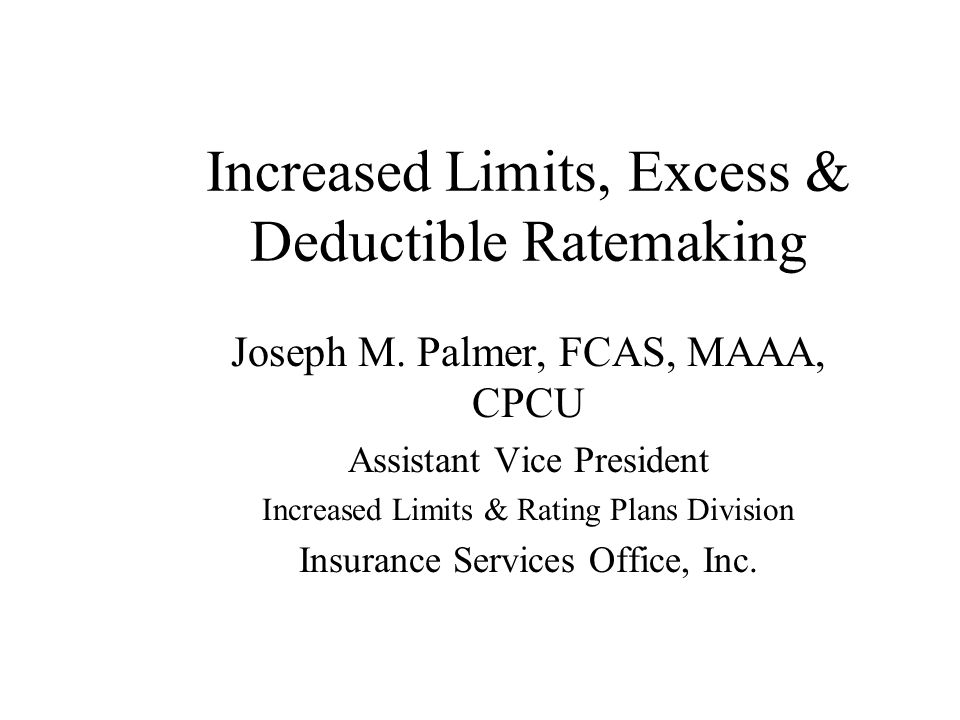 Fixed Expense Adjustment Factor Deductible Savings yields Variable Expense Savings Does not yield Fixed Expense Savings Variable Expense Ratio represents Variable Expenses as a percentage of Premium So: Total Costs Saved from deductible equals Net Indemnity Savings divided by (1-VER)