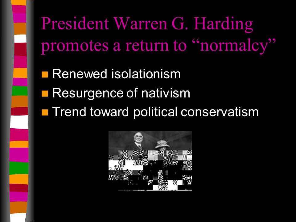 President Warren G.