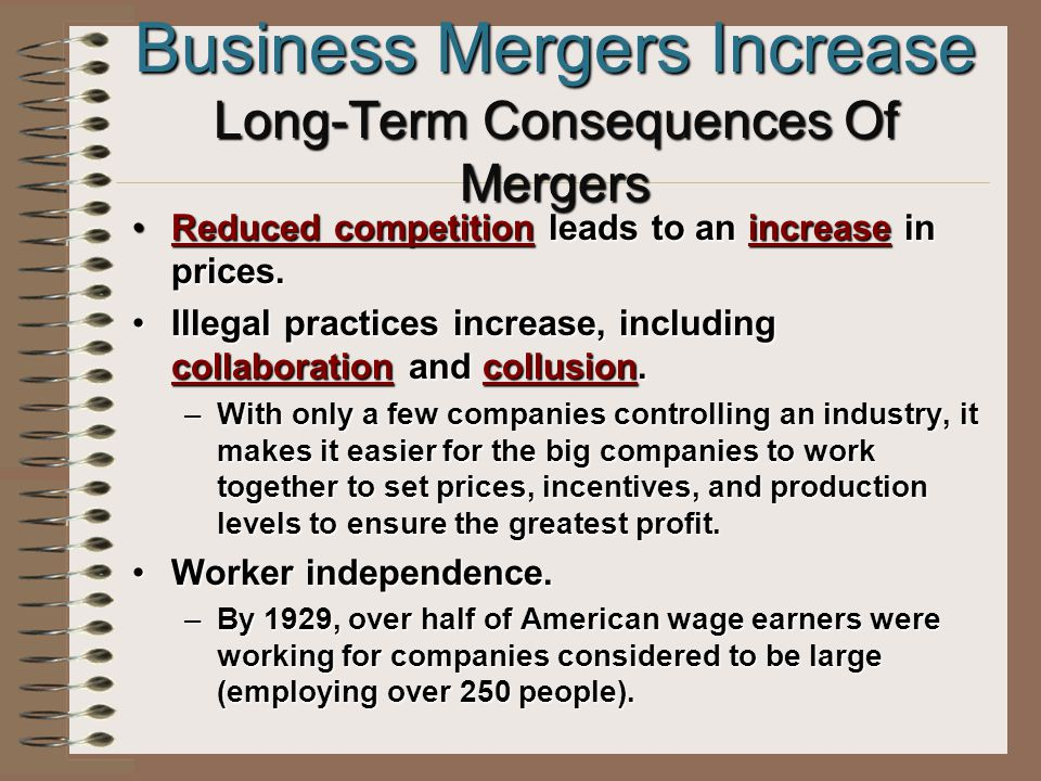 Business Mergers Increase Why .