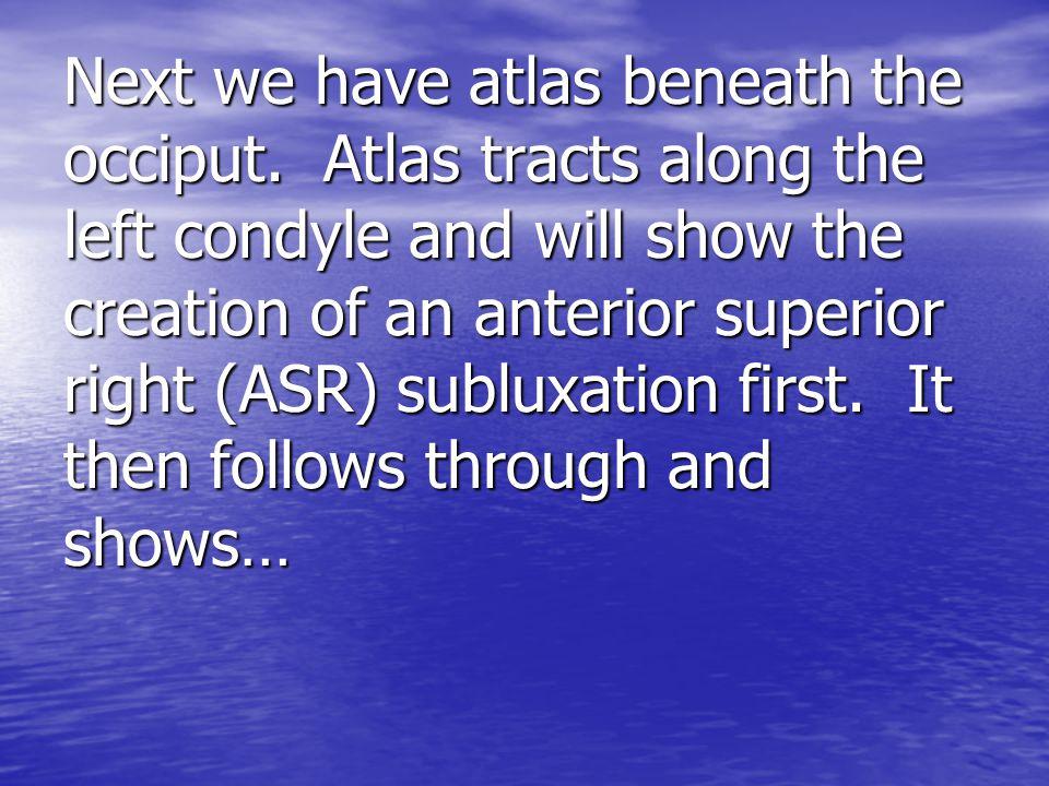 Next we have atlas beneath the occiput.