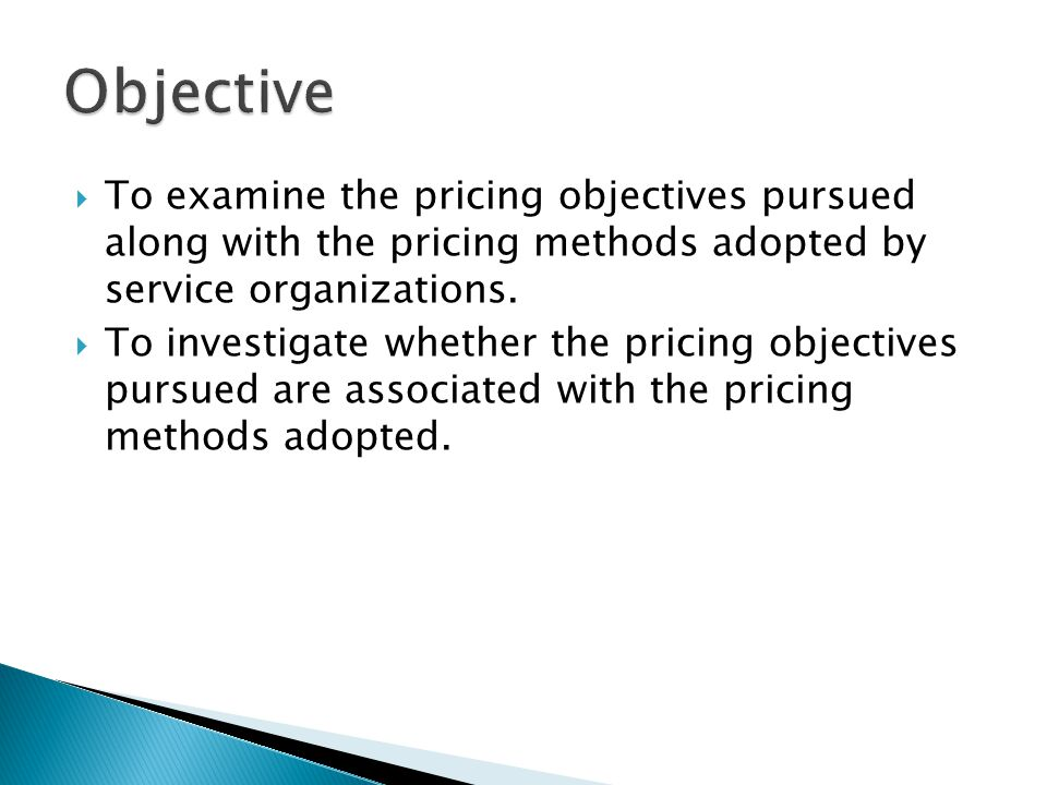  Managers responsible for pricing decisions within their firms is to move away from simplistic cost plus formulas and treat pricing from a customers point of view.