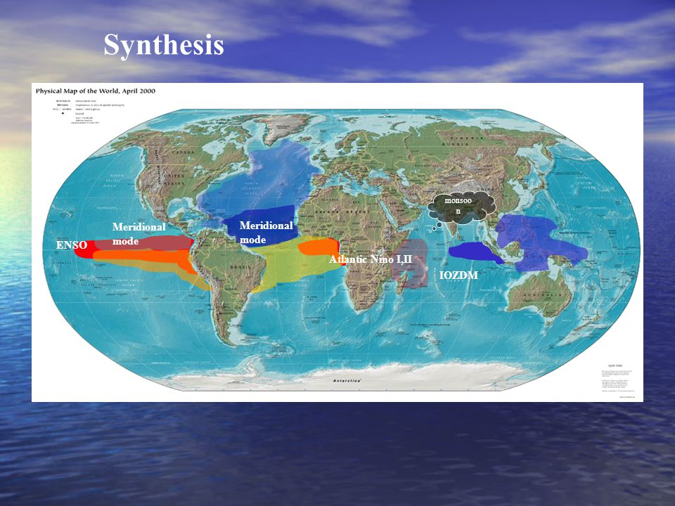 IOZDM Atlantic Nino I,II Meridional mode Meridional mode ENSO monsoo n Synthesis
