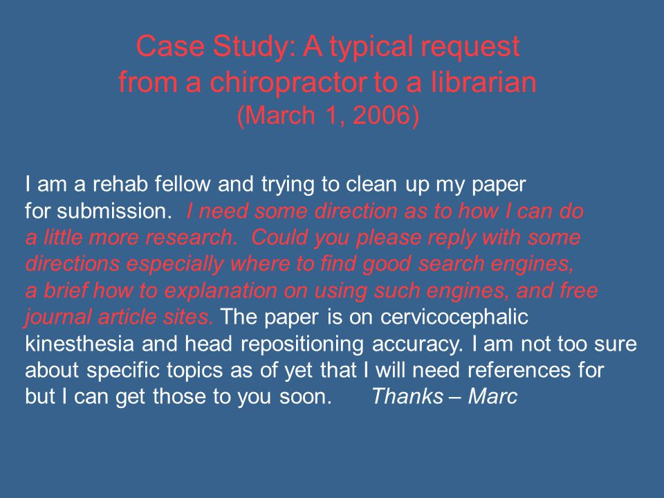 I am a rehab fellow and trying to clean up my paper for submission.
