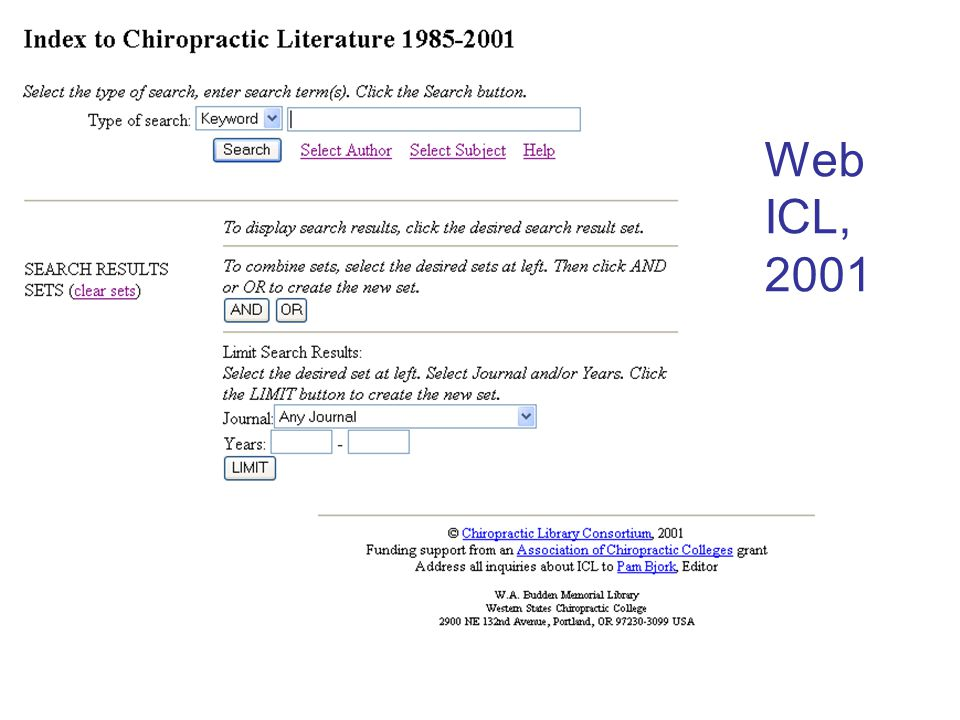 Web ICL, 2005 Search result