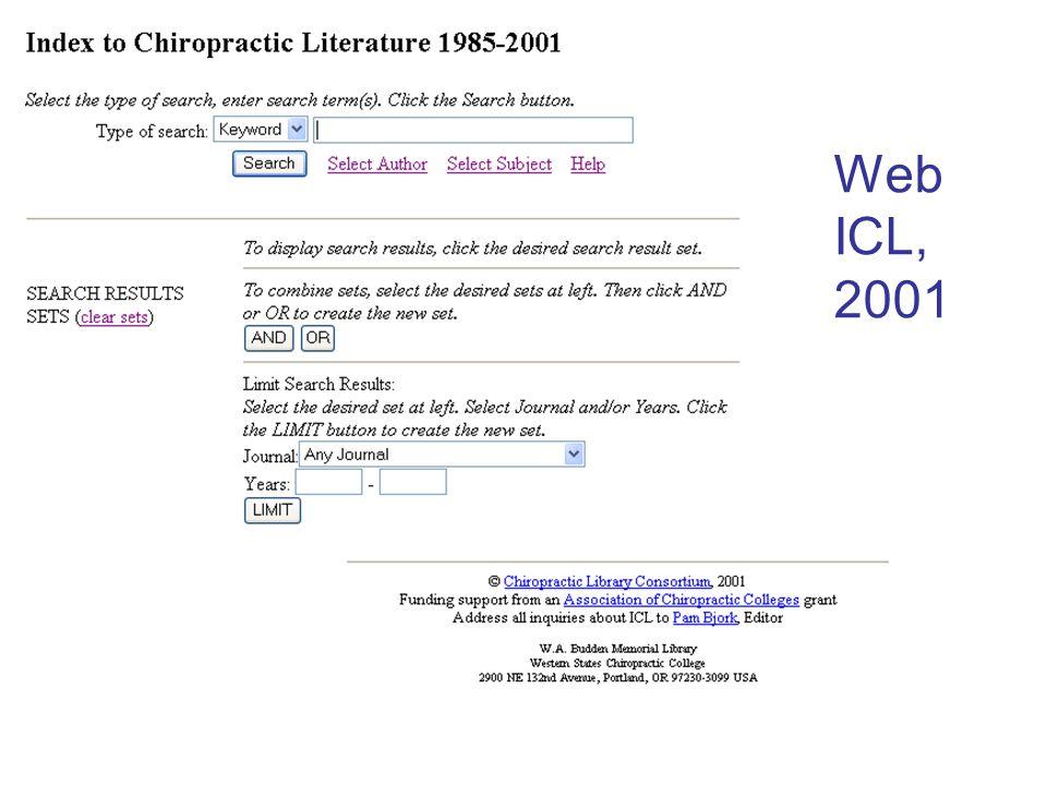 Web ICL, 2001