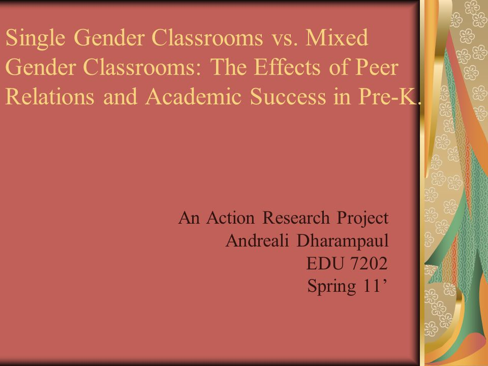 RESULTS Mixed Gender: -Reading comprehension t.s.a increased by 8% and math skills decreased by 4%.