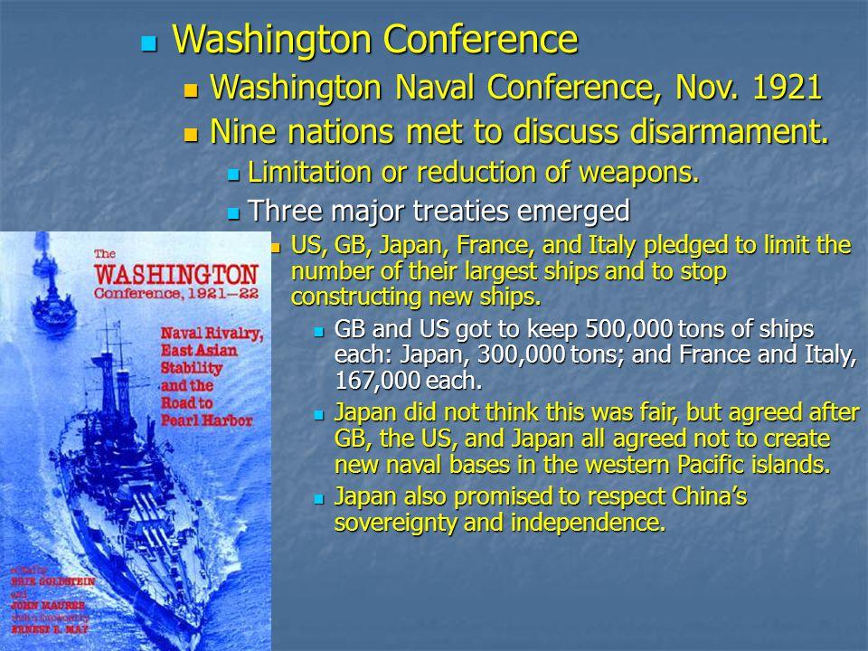 Washington Conference Washington Conference Washington Naval Conference, Nov.