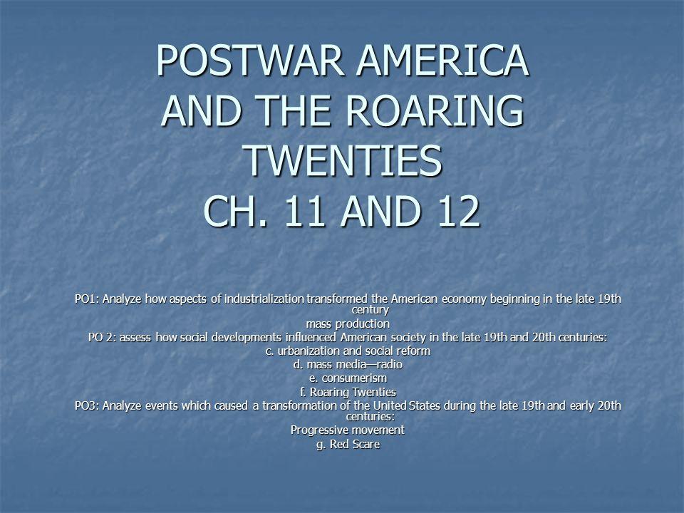 POSTWAR AMERICA CH.
