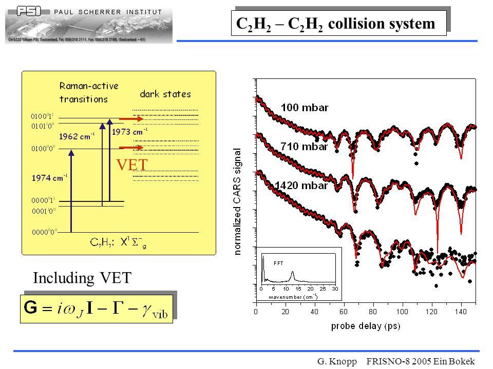 G. Knopp FRISNO-8 2005 Ein Bokek Including VET VET C 2 H 2 – C 2 H 2 collision system