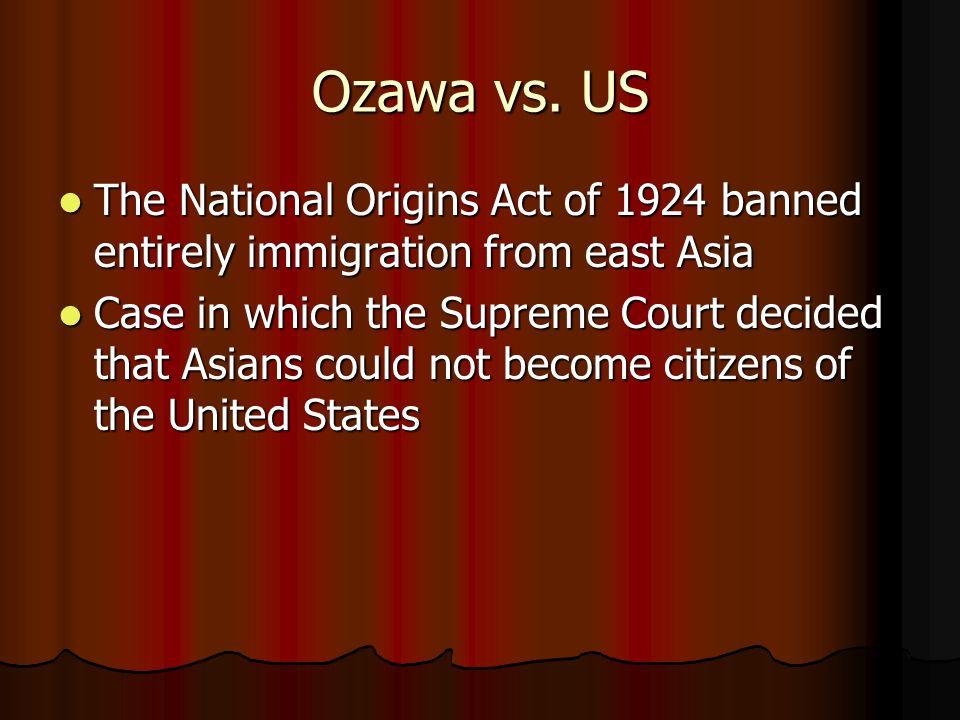 Ozawa vs.