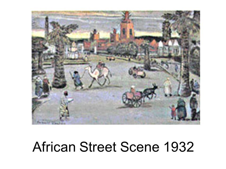 African Street Scene 1932