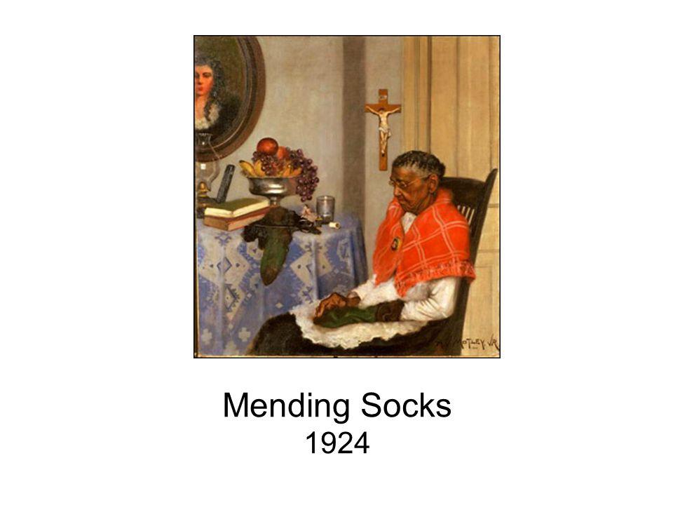 Mending Socks 1924