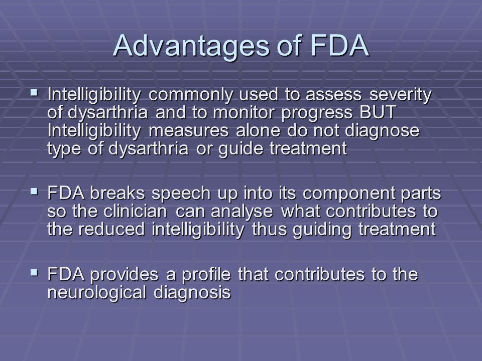 Computerised FDA  James Carmichael produced computer version  Demonstration