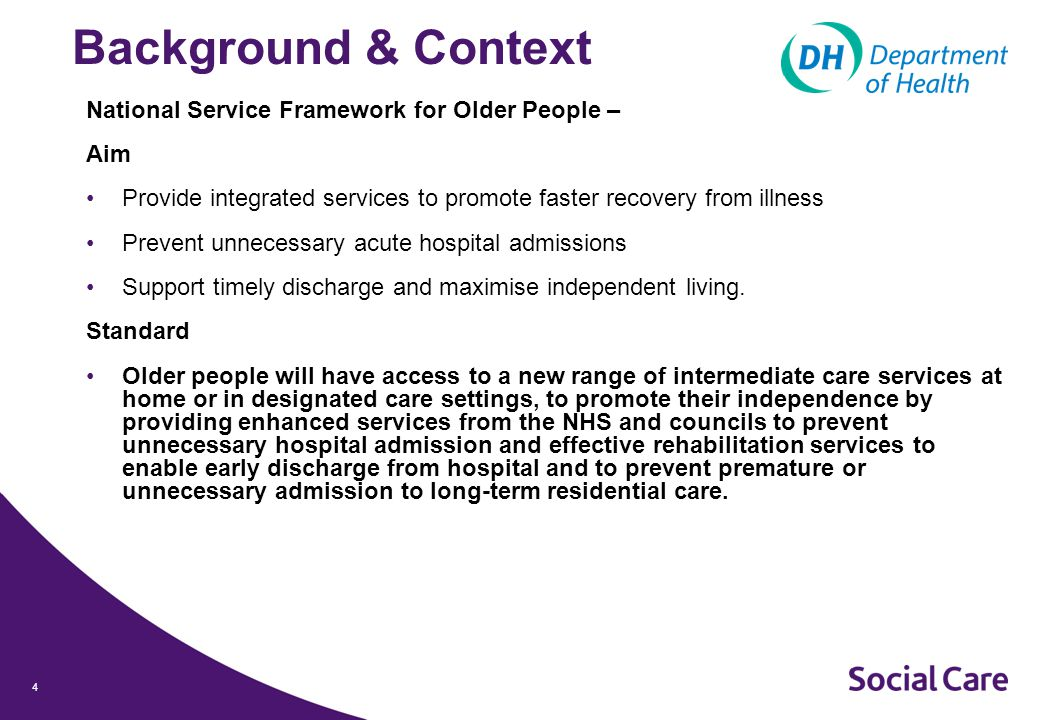 5 Case for Change Health Select Committee Report on Social Care Focused heavily on Integration: Misconception typical service user is a healthy adult with an episode of care Older people are the typical users of services – 29% of population, but 50% of GP appointments and 70 per cent of all inpatient bed days Older people and those with long term conditions experience fragmented services Called for integration around older people with just a single local commissioner Called for greater merging of Government funding streams Repeated attempts to improve integration The Committee welcomes Government support for this objective but is concerned that progress continues to be disappointing