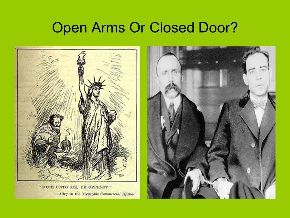 Open Arms Or Closed Door?
