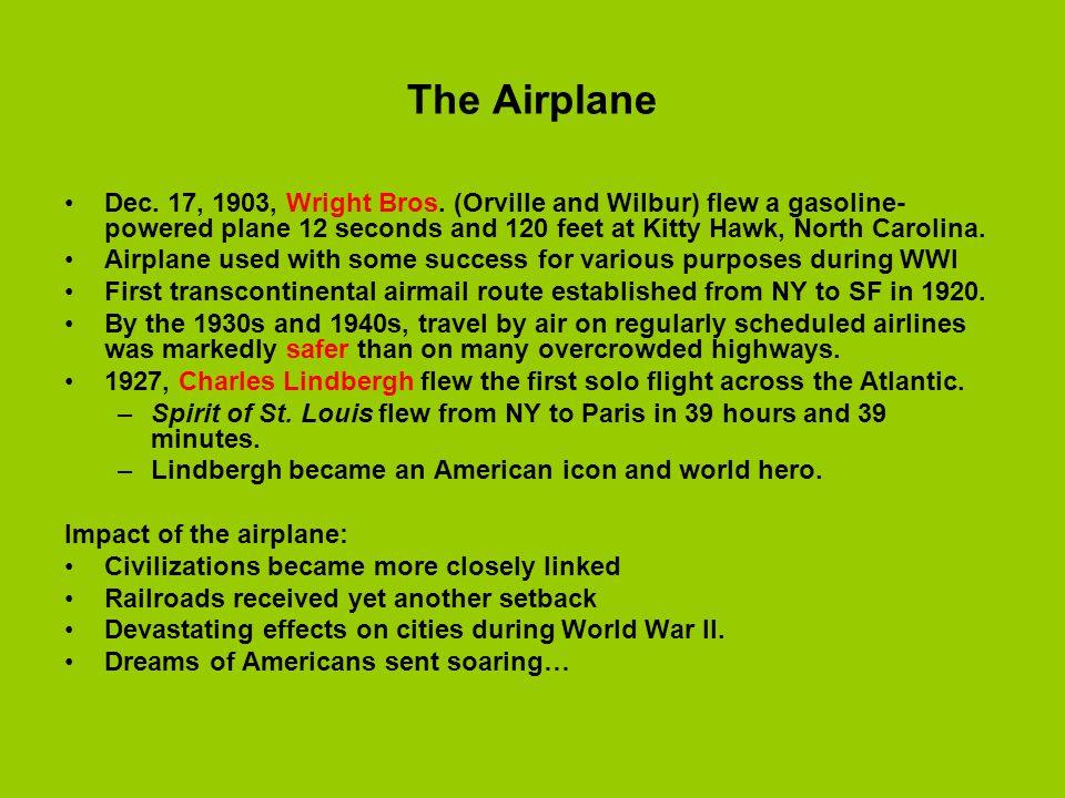 The Airplane Dec.17, 1903, Wright Bros.