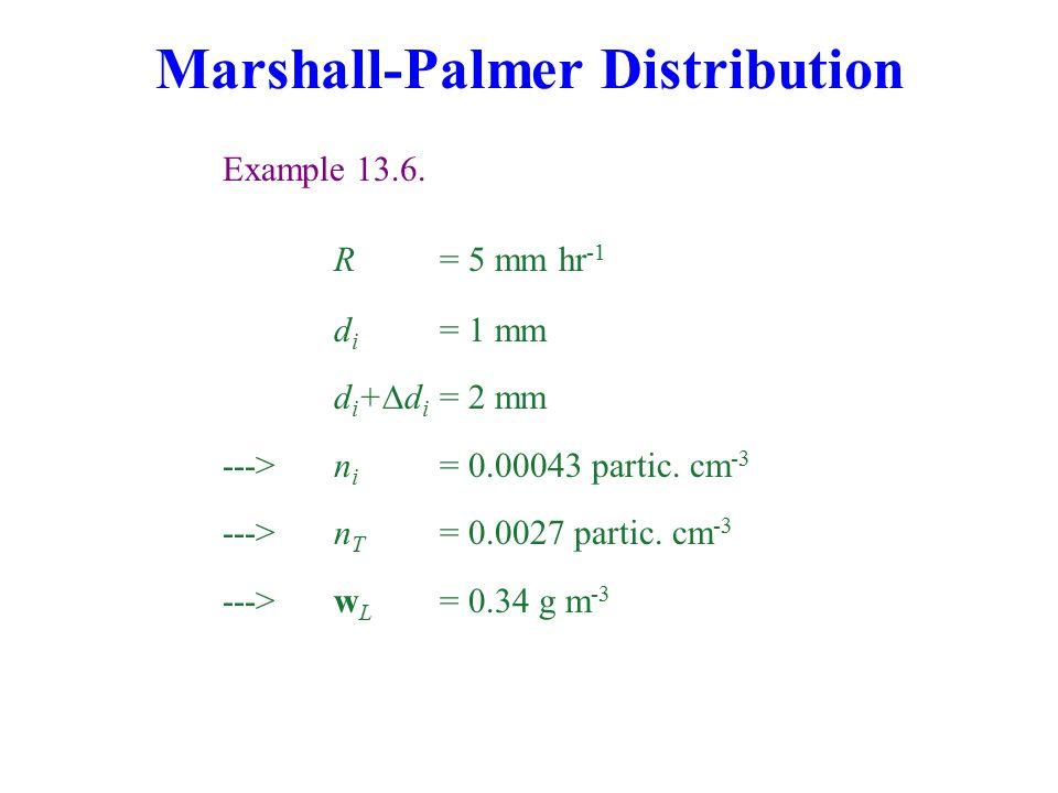 Marshall-Palmer Distribution Example 13.6.