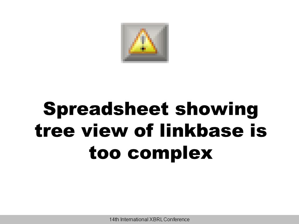 Simplest summation spreadsheet concept.Map each xlink arc to a single Excel row.