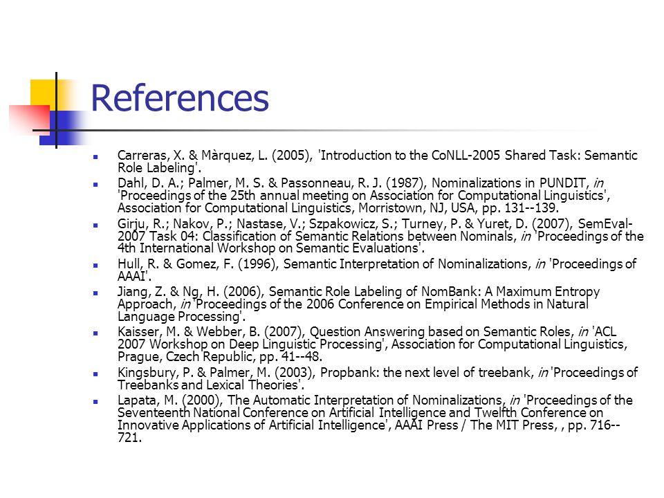 References Carreras, X.& Màrquez, L.