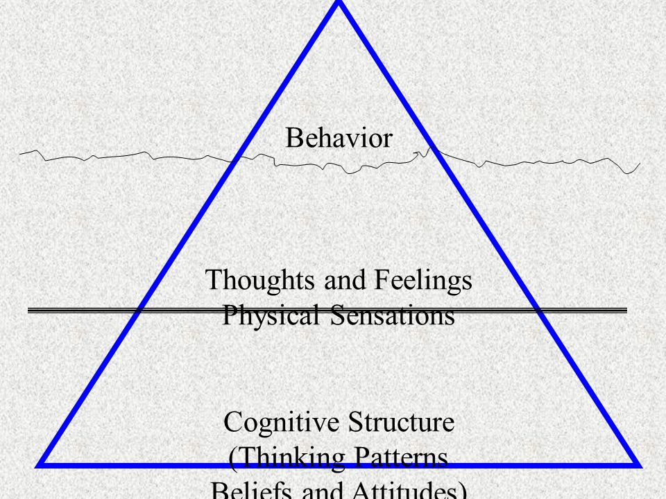 Behavior Thoughts and Feelings Physical Sensations Cognitive Structure (Thinking Patterns Beliefs and Attitudes)
