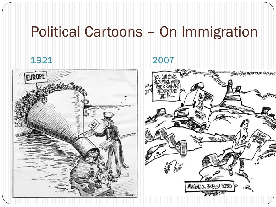 Political Cartoons – On Immigration 19212007