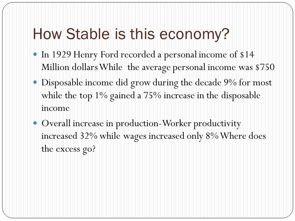 How Stable is this economy.