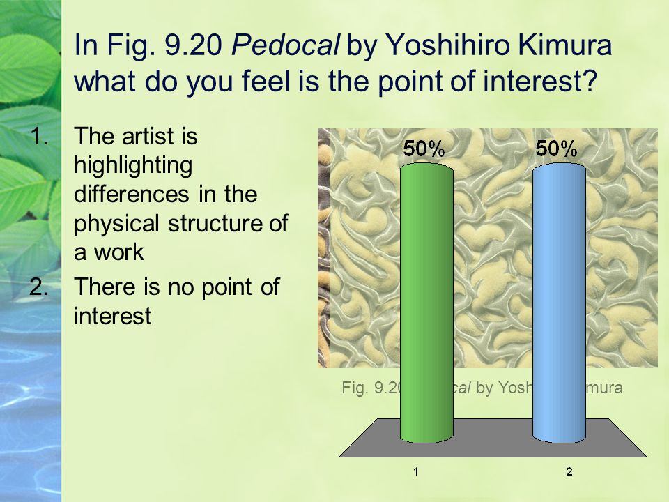 In Fig.9.20 Pedocal by Yoshihiro Kimura what do you feel is the point of interest.