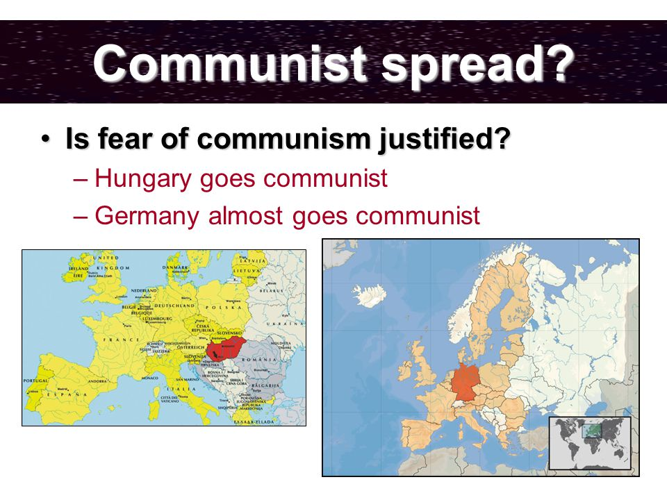 Communist spread. Is fear of communism justified Is fear of communism justified.