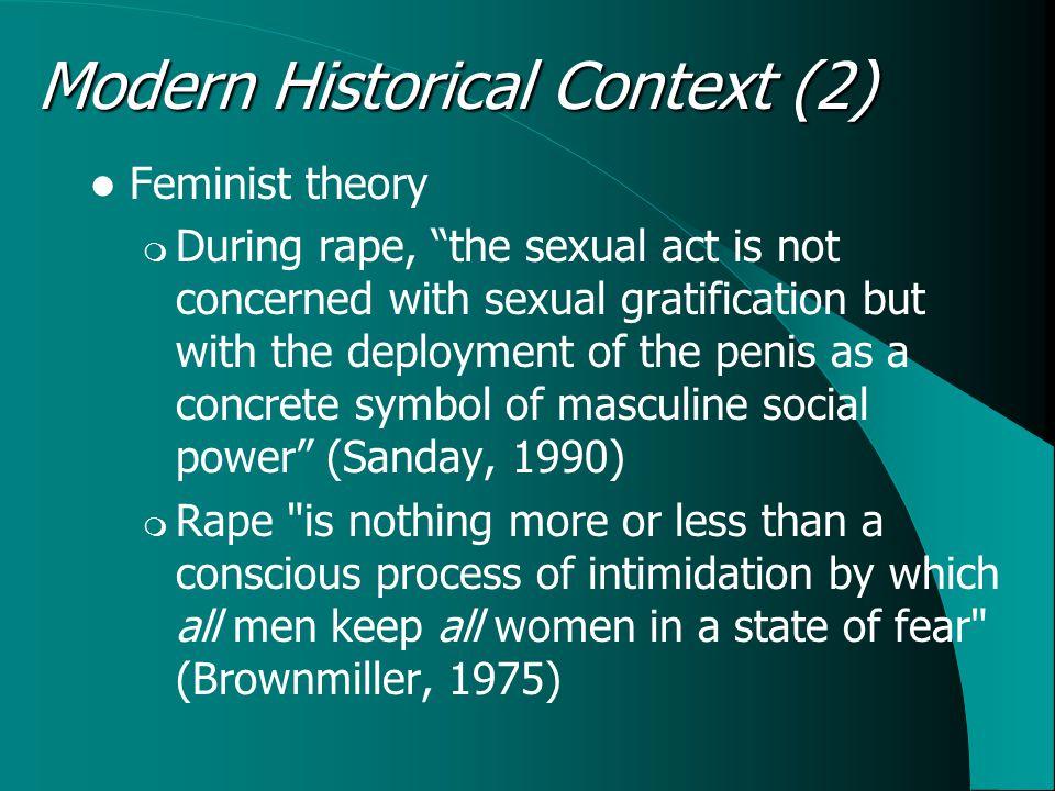 Feminists vs.evolutionists. Sex vs. violence.