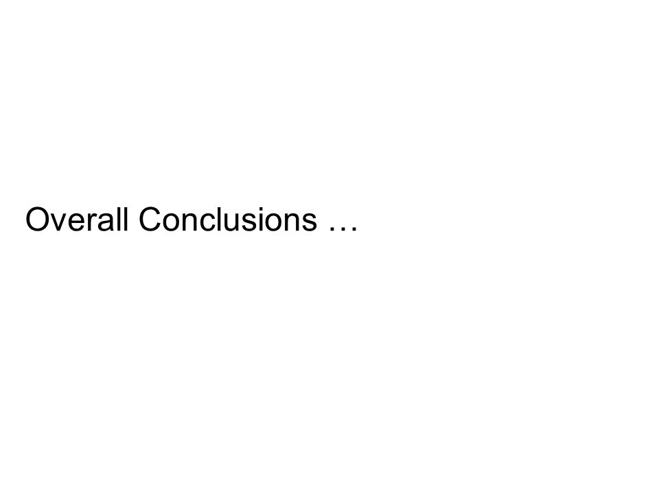 Overall Conclusions …