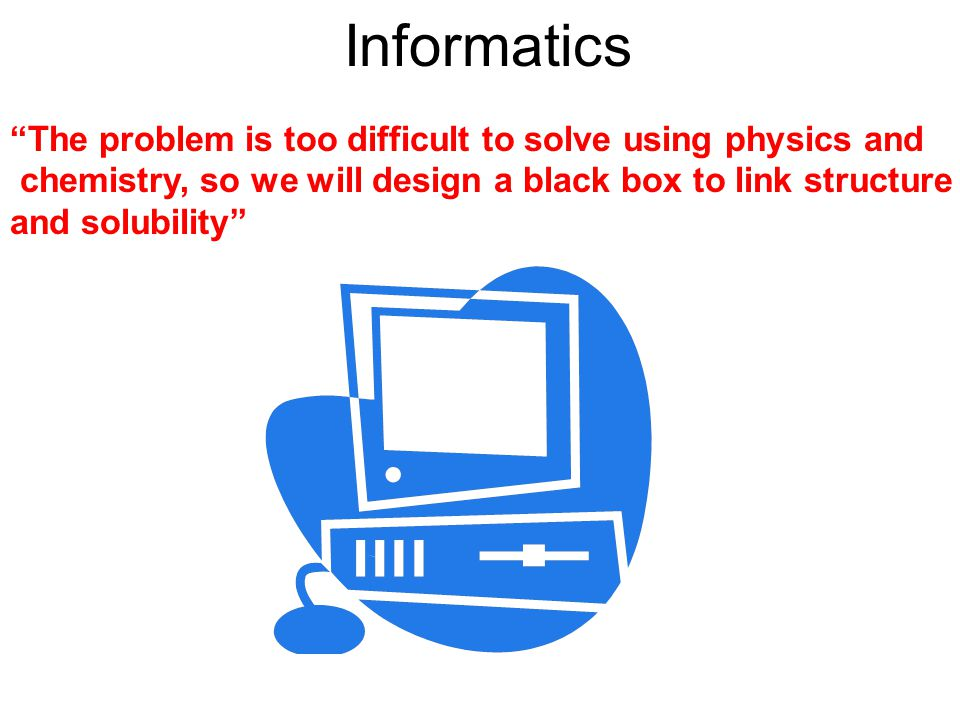 Informatics and Empirical Models In general, Informatics methods represent phenomena mathematically, but not in a physics-based way.