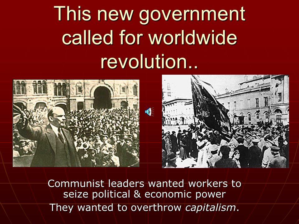 New Leadership in Russia (Soviet Union)… Vladimir I. Lenin