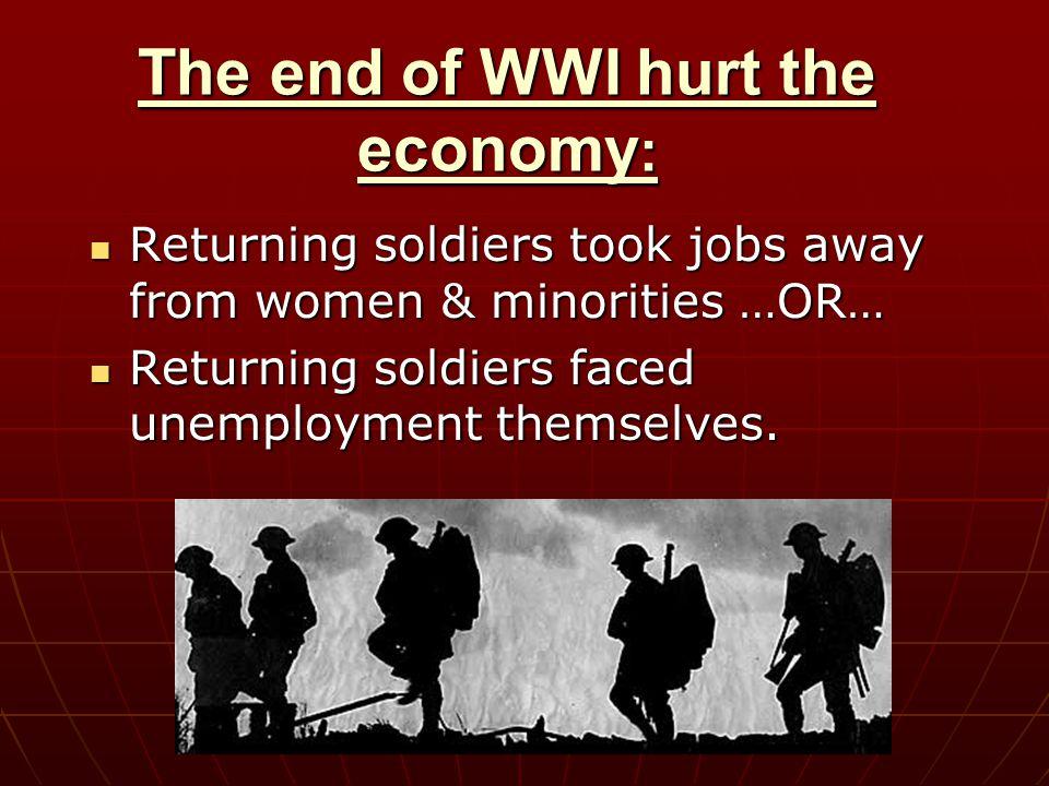 How did World War I affect America