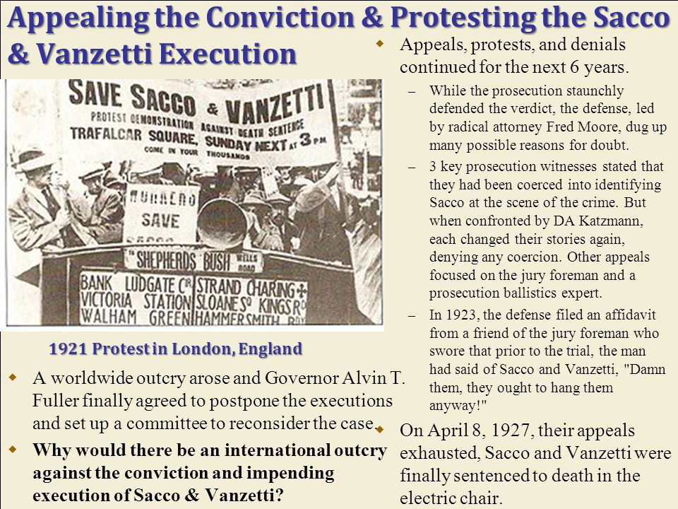 Why Target Sacco & Vanzetti?  With circumstantial evidence found and inconsistent testimonies, why were these two men targeted?  What political moti