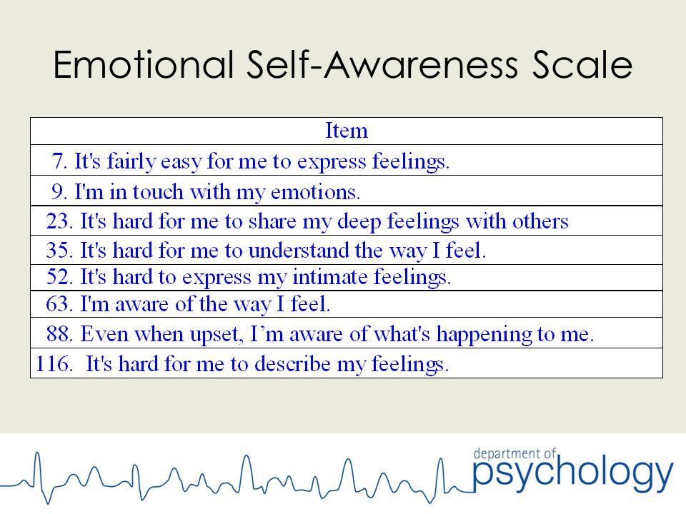 Emotional Self-Awareness Scale