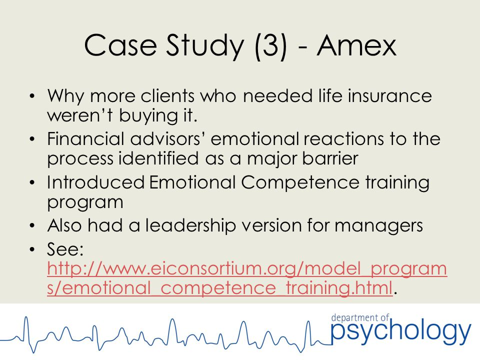Case Study (3) - Amex Why more clients who needed life insurance weren't buying it.