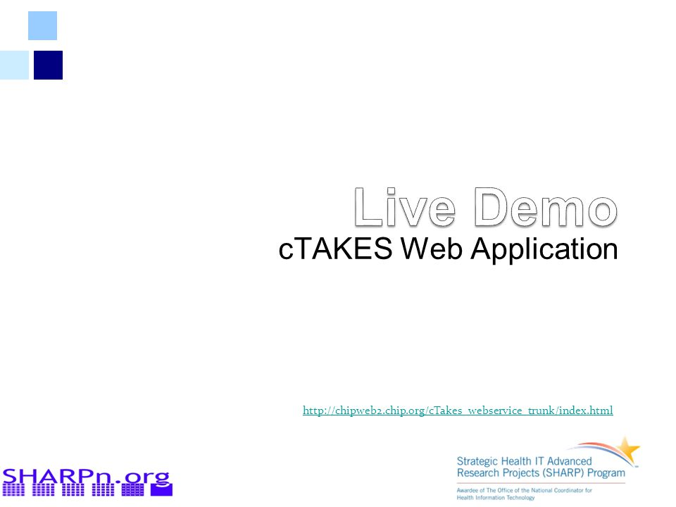 cTAKES Web Application http://chipweb2.chip.org/cTakes_webservice_trunk/index.html