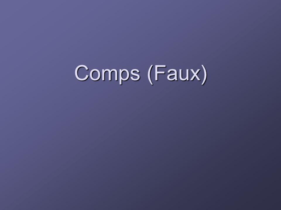 Comps (Faux)