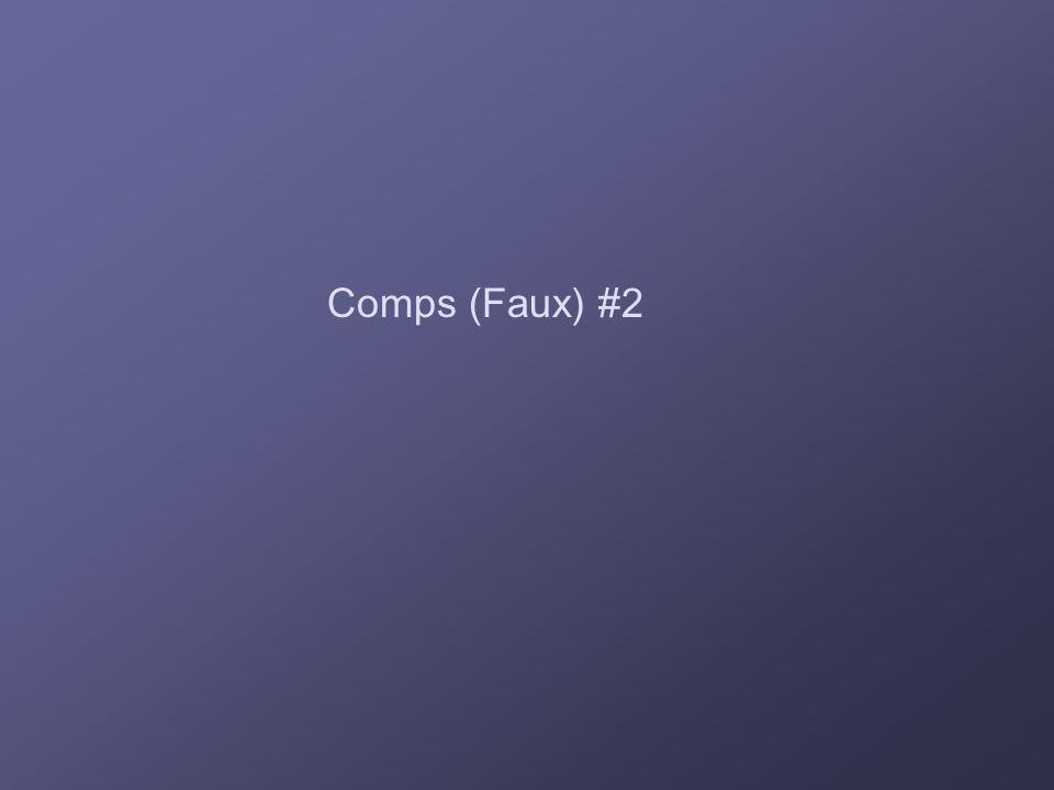 Comps (Faux) #2