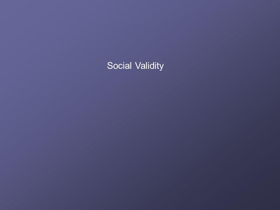 Social Validity